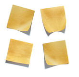 Pack of little pieces of paper held by an adhesive. View of a Pack of little pieces of paper held by an adhesive royalty free stock photos