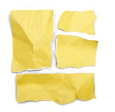 Pack of little pieces of paper held by an adhesive. View of a Pack of little pieces of paper held by an adhesive royalty free stock photography