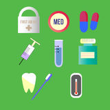 Pack of medical icons Stock Images