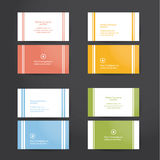 Pack of minimal business cards. Royalty Free Stock Photography