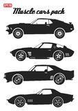 Pack of muscle car icons  1 Stock Photos