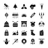 New Year Icons Pack royalty free illustration