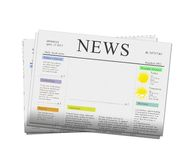 News papers with copy space. Pack of newspapers with empty copy space isolated on white background vector illustration