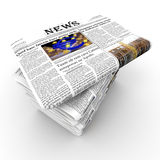 Pack of newspapers Royalty Free Stock Images