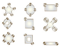 Pack of nine forms of pearl tones. Stock Photos