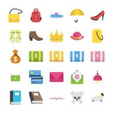 Objects Flat Icons stock illustration