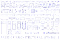 Free Pack Of Architectural Symbols Royalty Free Stock Image - 124337616
