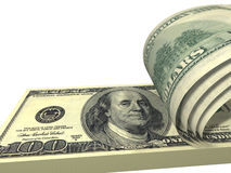 Free Pack Of Dollars With Screwed Bills Isolated Stock Photography - 11898622