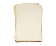 Pack of old papers. It is isolated on the white Stock Images