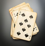 Pack of old playing cards Stock Photography