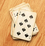 Pack of old playing cards Royalty Free Stock Photo