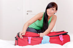 Pack one's bags Royalty Free Stock Photo