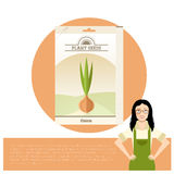 Pack of Onion seeds icon Royalty Free Stock Photography