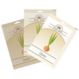 Pack of Onion seeds icon Royalty Free Stock Images