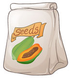 A pack of papaya seeds Stock Photography