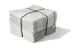 Pack of paper. A pack of grey paper in white back with shadow royalty free stock photos