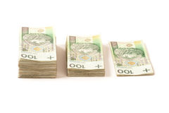 Pack of paper money from poland to use in business Royalty Free Stock Image