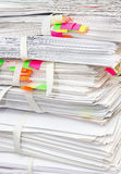 Pack of papers Stock Images