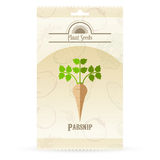 Pack of Parsnip seeds icon Royalty Free Stock Photos