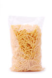 A pack of pasta isolated on a white Royalty Free Stock Photos