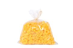 Pack of pasta isolated on white Stock Photography