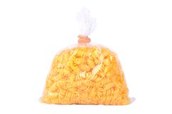 Pack of pasta isolated on white background Royalty Free Stock Image