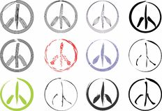 Peace signs royalty free stock photos