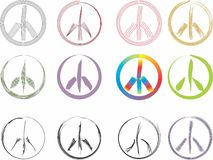 Peace signs Stock Photography