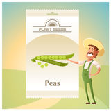 Pack of Peas seeds icon Royalty Free Stock Photography
