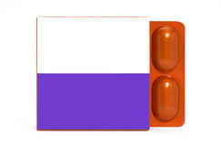 Pack with pills blister Stock Photos