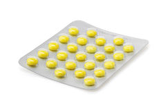 Pack of pills on white Royalty Free Stock Photography