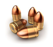 Pack of pistol ammo catridges with bullets. Concept. Stock Photo