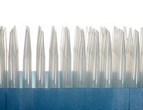 Pack of plastic dropper tips Stock Image