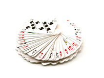 Pack of playing cards Stock Images