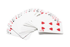 Pack of Playing Cards. On White Background stock photography