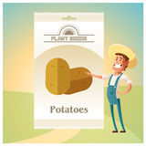 Pack of Potatoes seeds icon Stock Photos