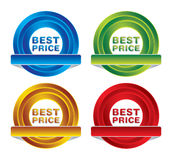 Pack of price badges Stock Photos