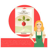 Pack of Radish seeds icon Royalty Free Stock Photography