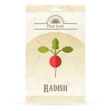 Pack of Radish seeds icon Stock Photo