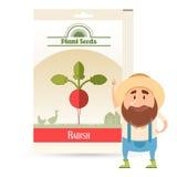Pack of Radish seeds icon Stock Photo