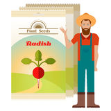Pack of Radish seeds icon Royalty Free Stock Image