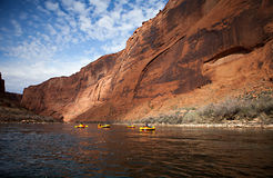 Pack Rafting Glen Canyon, Arizona Stock Photo