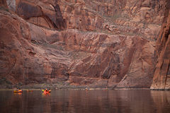 Pack Rafting Glen Canyon, Arizona Stock Images