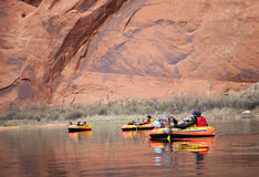 Pack Rafting Glen Canyon, Arizona Stock Image