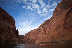 Pack Rafting Glen Canyon, Arizona Royalty Free Stock Photo