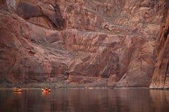 Pack Rafting Glen Canyon, Arizona Stock Photo