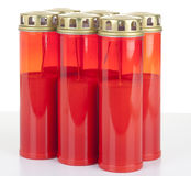 6 pack red candles Royalty Free Stock Images