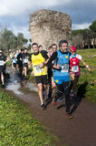 Pack of runners, Marathon of the Epiphany, Rome, Italy Stock Images