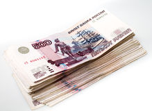 Pack of russian money isolated Stock Images