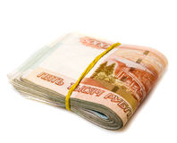 Pack of russian money isolated Royalty Free Stock Photography